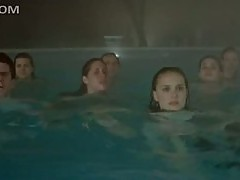 Sexy Natalie Portman and Lots Of Hot Babes Swimming In Their Panties
