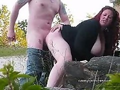 Outdoor Sexposure Cream Pie Outside
