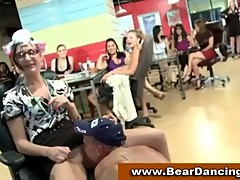 Cfnm babes licked by male strippers