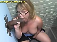Blonde Beauty In Glasses Can't Get Enough Black Dick Glory Hole